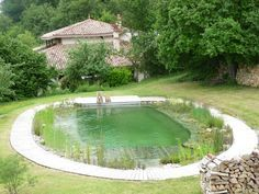 Natural swimming pool with no building permit needed. Yes please.