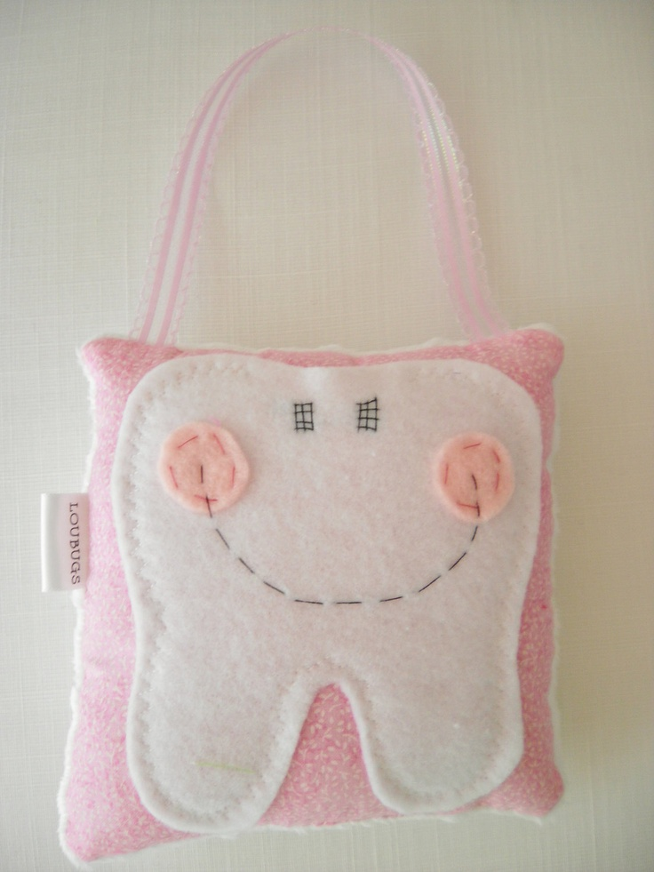 Tooth Fairy Pillow...so cute! Tooth Fairy pillows Pinterest Pink, Fairies and Tooth fairy ...
