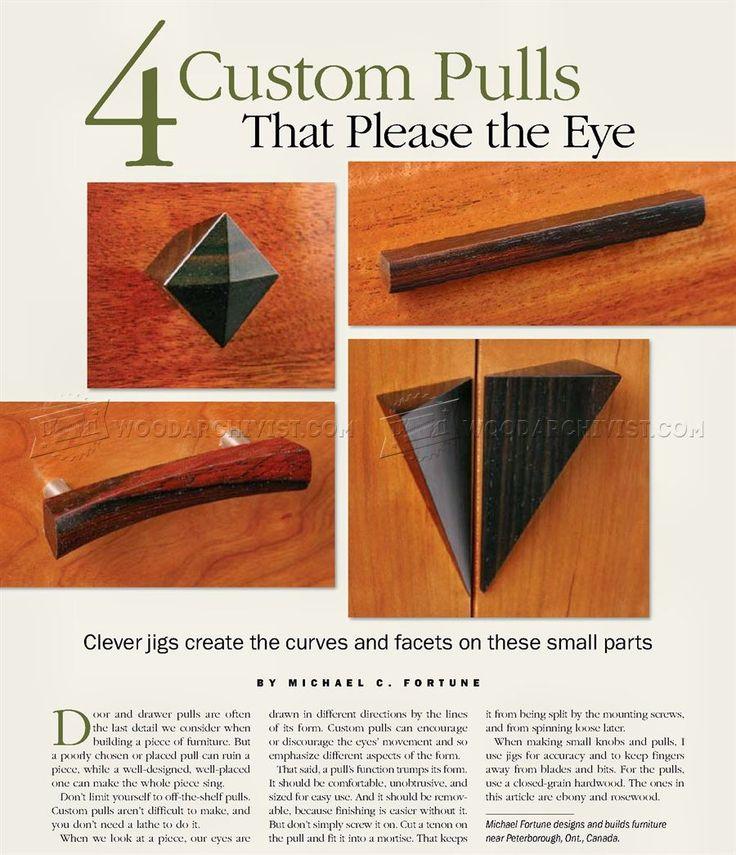 409 Making Wooden Drawer Pulls • WoodArchivist
