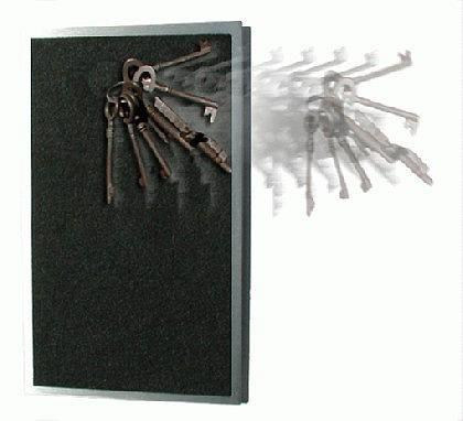 Schlüsselbrett Edelstahl & Filz 1