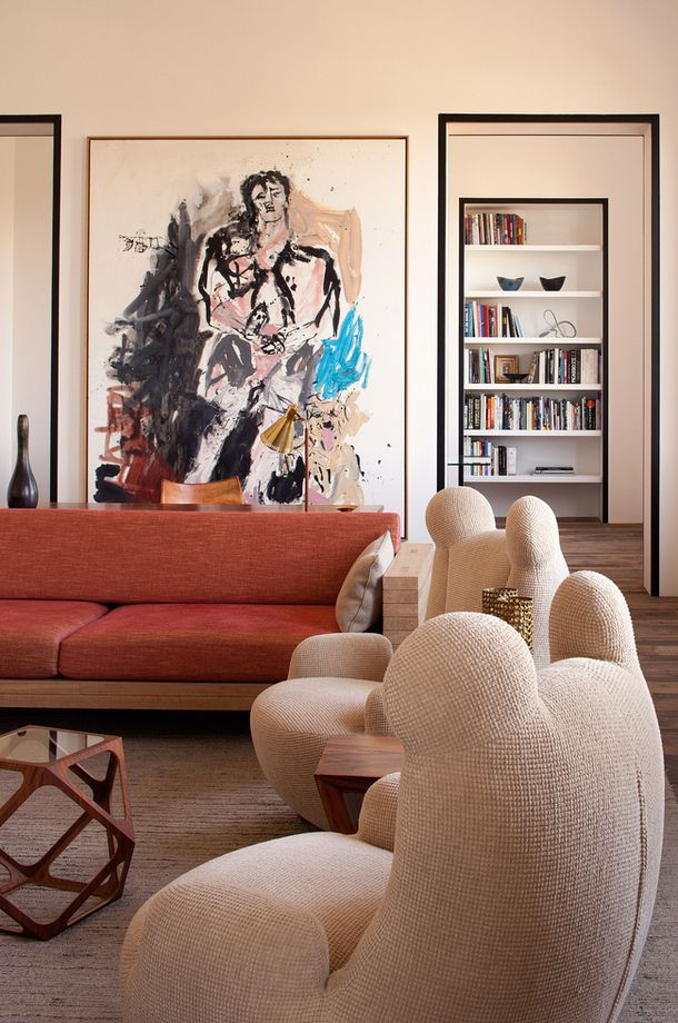 Living Room - European contemporary Apartment decor