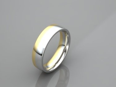 Göttliche Trauringe, Gold und Silber in der reinen Proportion des Goldenen Schnitt miteinander verschmolzen,mehr bei www.wuelfing-design.de