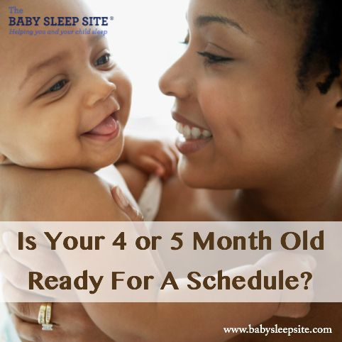 You may be eager for your 4 or 5 month old to have a predictable daily schedule, but is your baby ready? We reveal signs of readiness and tips for creating a schedule that works.