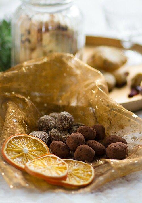 Home made orange truffel
