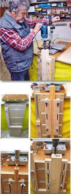 Vertical Drilling Jig - Drill Tips, Jigs and Fixtures | WoodArchivist.com
