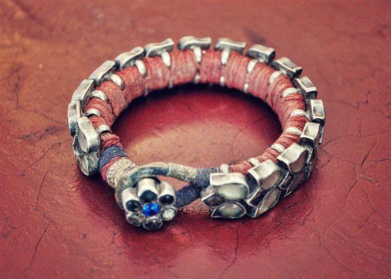 Antique Rajasthan Tribal Silver Bracelet by COSMIC NORBU