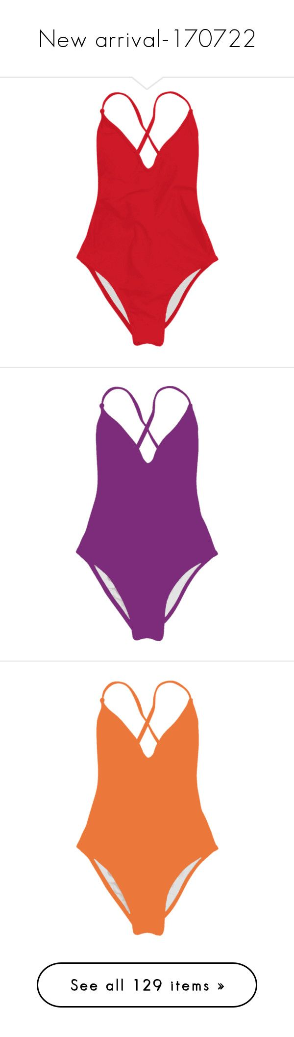 """""""New arrival-170722"""" by zaful ❤ liked on Polyvore featuring swimwear, one-piece swimsuits, red swimsuit, 1 piece swimwear, red bathing suit, one piece swim wear, 1 piece bathing suits, v neck one piece swimsuit, purple one piece bathing suit and 1 piece swimsuit"""