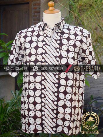 Kemeja Batik Cap Motif Kawung Lis Parang Barong | #Indonesia Unique  #Batik Tops Shirt #Clothing Men Women http://thebatik.co.id/baju-batik/