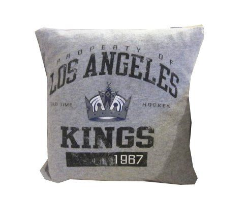 Los Angeles Kings Hockey team recycled tshirt pillow by reclaimLA, $25.00