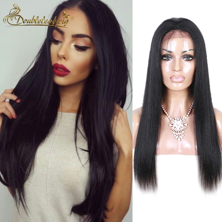 7A Brazilian Light Yaki Straight Full Lace Human Hair Wigs With Baby Hair Lace Front Human Hair American Yaki Wig For Women