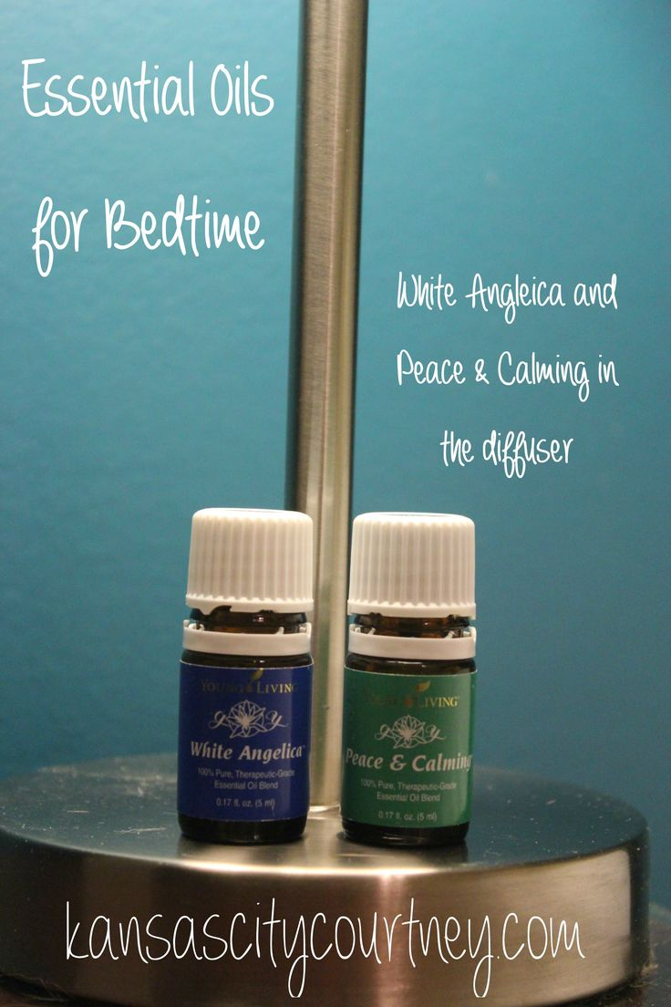 Young Living Sleep Oils For Bedtime White Angelica Peace