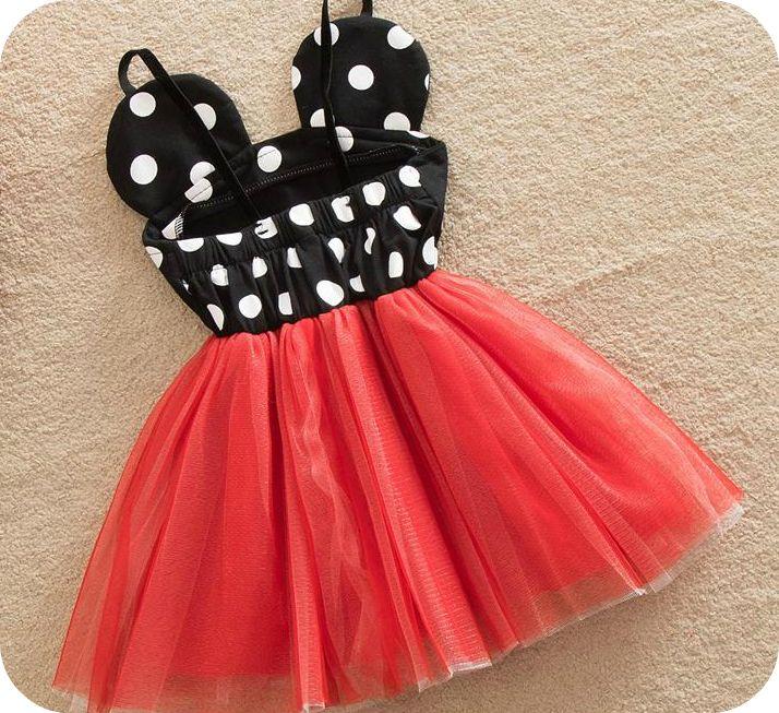 Minnie Mouse Dot Dress Birthday Dress Girl