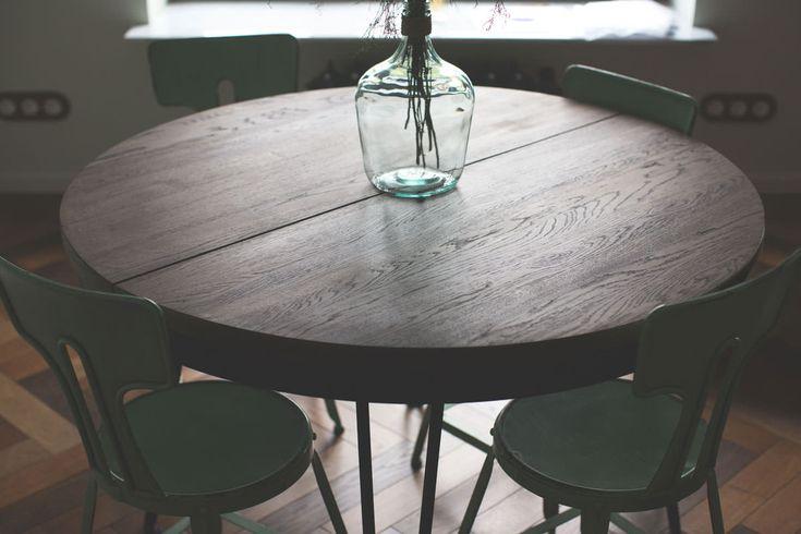 archventil_interior_design_flat_krms-30 furniture design - industrial round extension table by Archventil - oak wood -black metal