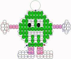 Green M&M pony beads pattern