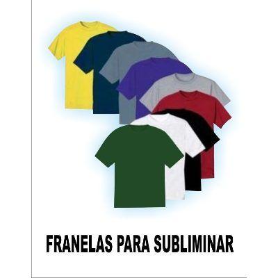 Franelas Unicolores Para Estampado - Caracas - Libertador (noreste) - en Mercado Libre