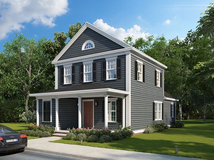 082H-0006 Small House Plan Makes a Nice Starter Home  Fits a