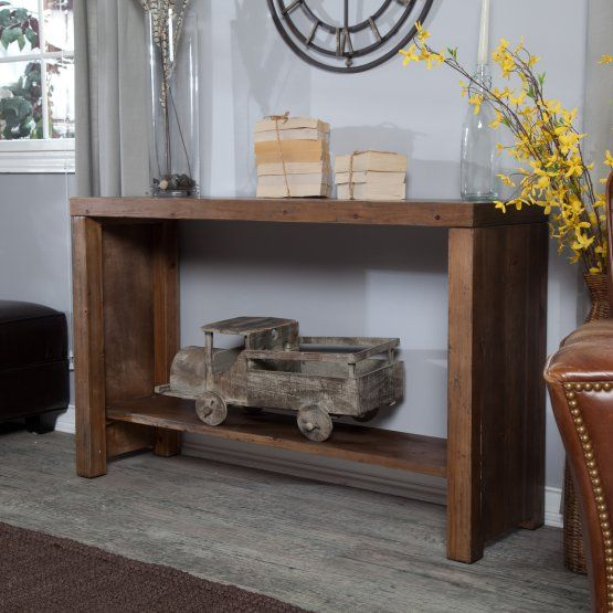 Belham Living Franklin Reclaimed Wood Industrial Coffee Table: 25+ Great Ideas About Rustic Console Tables On Pinterest