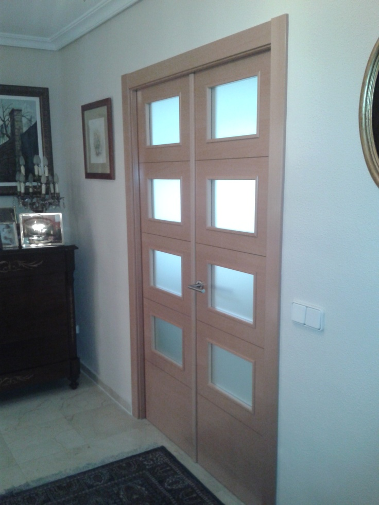 85 mejores im genes de puertas madera natural en pinterest for Puerta doble interior