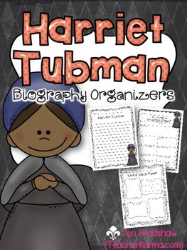 {$1 DEAL} Harriet Tubman Biography Report Organizers ~ Bla