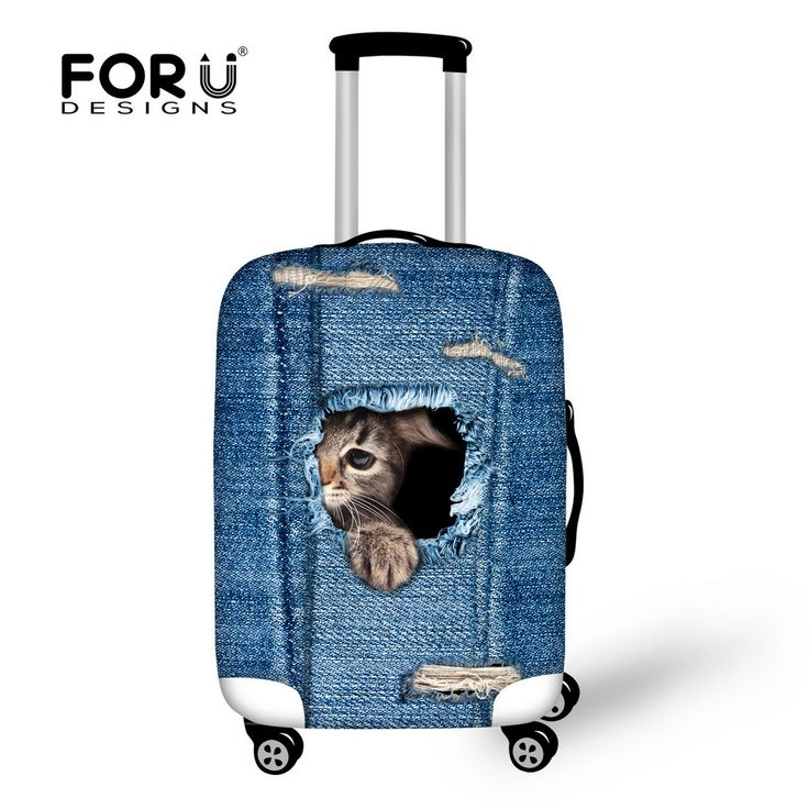 Cute Elastic Women Luggage Protective Cover for 18/20/22/24/26/28/30 inch Suitcase Luggage Cover Animal Cat Travel Accessories