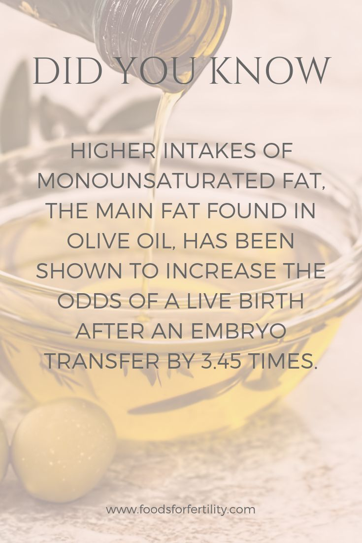 FIV Fact: Diets rich in good fats, such as those found in olive oil, have been …   – IVF