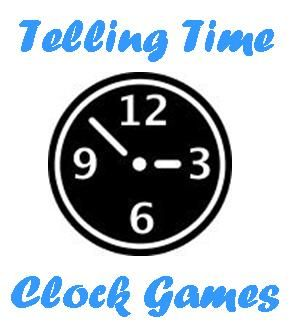 Telling time activities and clock games for kids learn to tell time.