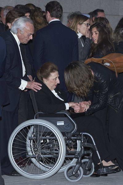 Carlos Emilio Juan Zurita and Princess Margarita de Borbon attend a funeral chapel for Alicia de Borbon Parma, Duchess of Calabria, at La Paz morgue on March 28, 2017 in Madrid, Spain.