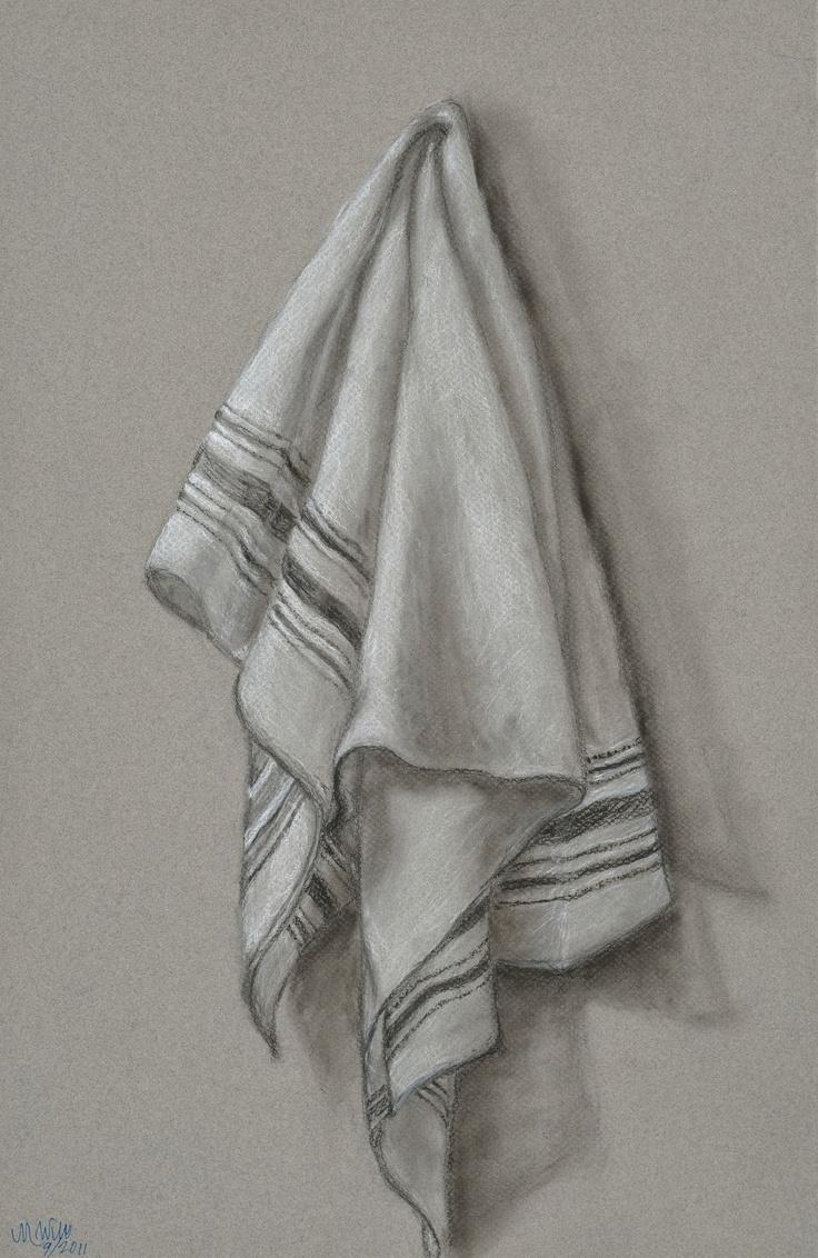 dish towel: charcoal/chalk/pan pastel. portraits at www.etsy.com/shop/thewolffden