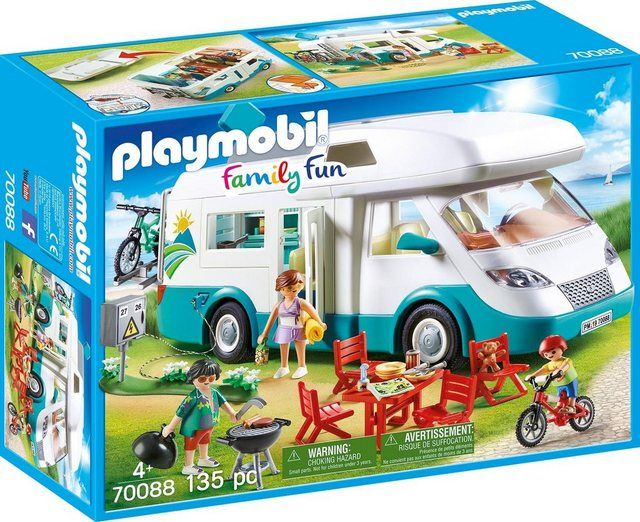Konstruktions Spielset Familien Wohnmobil Family Fun In 2020 Play Mobile Playmobil Wohnmobil