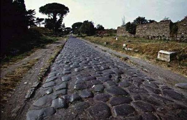 Via Apia, 2.200 years old Roman road from Rome to Greece