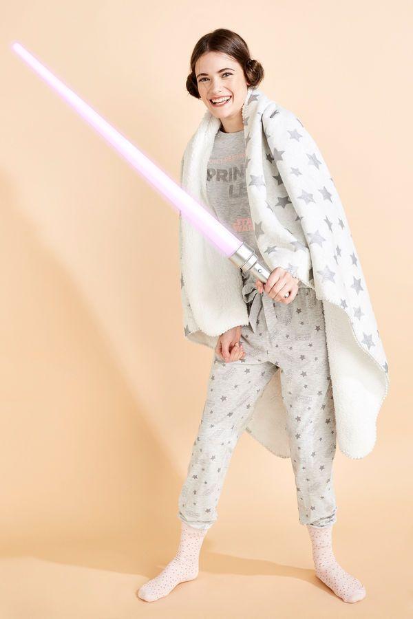 ac6279bece Womensecret Pijama largo Star Wars  Princess Leia  beige