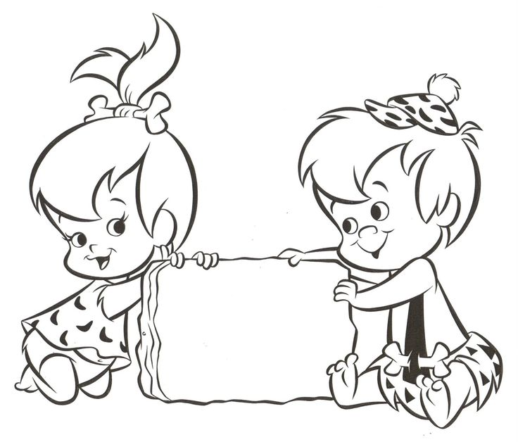 Pebbles and Bam Bam Coloring Pages