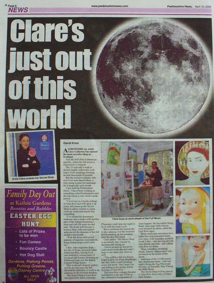 PEEBLESSHIRE NEWS, Scotland, 2009
