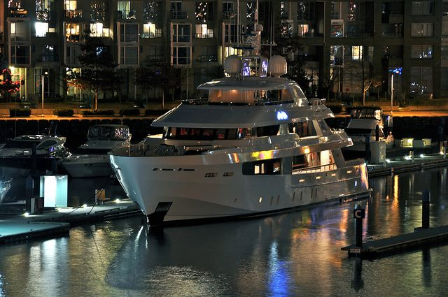 Beautiful yacht in Coal Harbour Vancouver