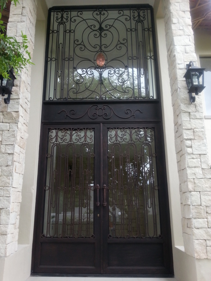 wrought iron front door with fanlight 6m tall
