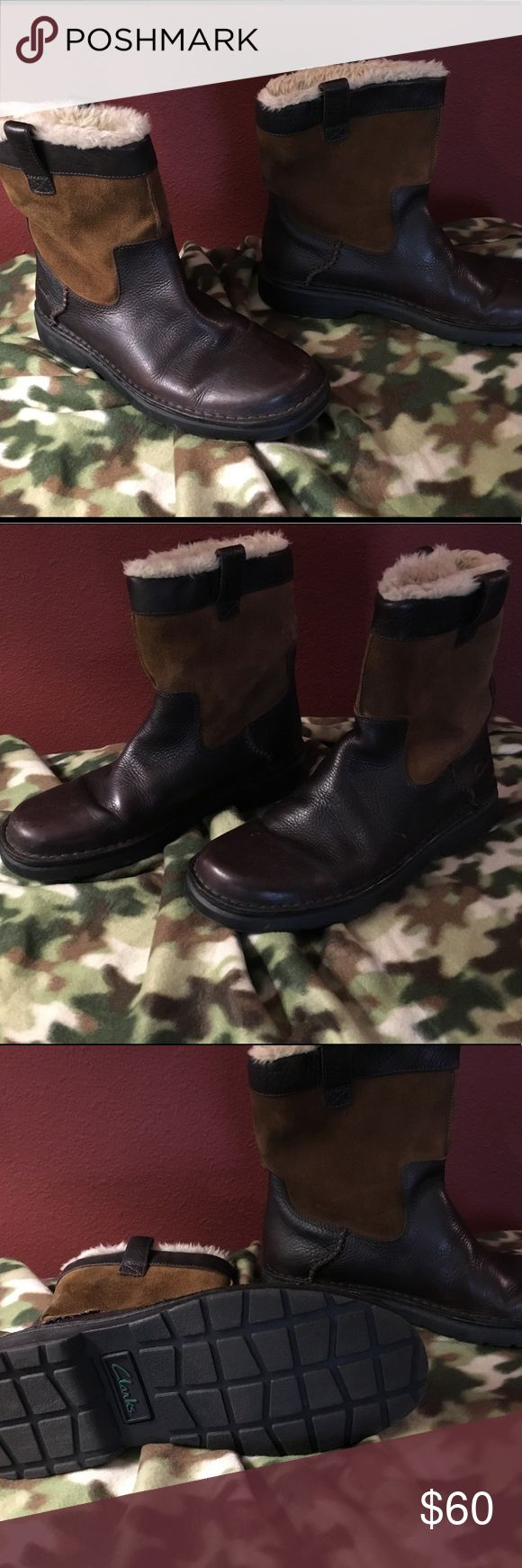Clark Lined Leather Boots Fully Lined Water 💦 Proof Comfy Winter Boots For Men Clarks Shoes Winter & Rain Boots