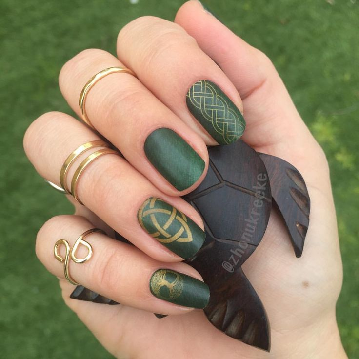 Jamberry Rachael Skelton Celtic Green and Gold NAS!!❤️