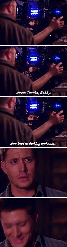"Season 7  gag reel. ""You're fucking welcome"""