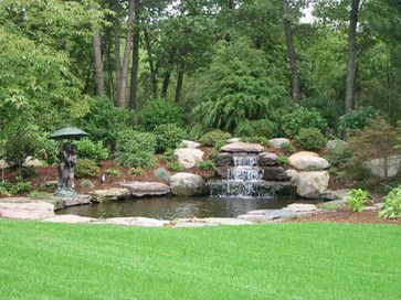 Backyard Waterfall - traditional - landscape - boston - Leonard Design Associates