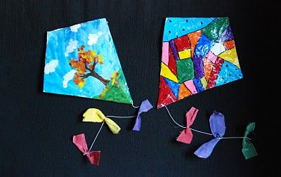 "Spring craft for the kids - ""Finger Kites"""