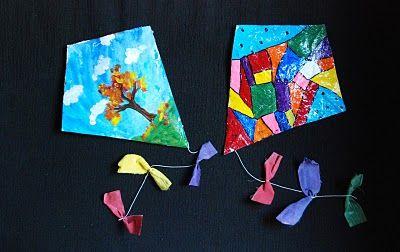 """Spring craft for the kids - """"Finger Kites"""""""
