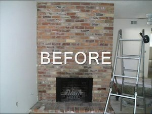 Fireplace refacing videos and bricks on pinterest - How to reface a brick fireplace ...