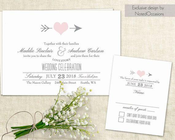 Rustic Wedding Invitation Template, Wedding Invitation Templates, Wedding  Cards, Heart Wedding Invitations,