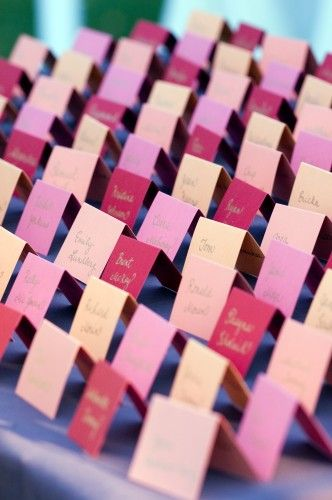 Colorful name cards! Photo by Cunningham Photography