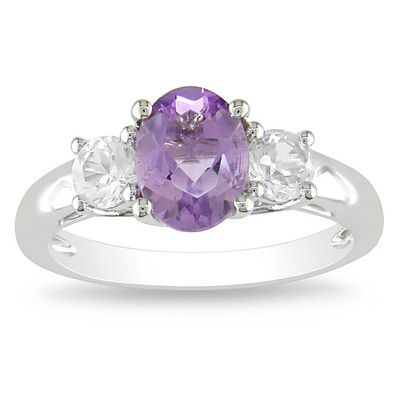 Looking at 'Sterling Silver Amethyst and Created White Sapphire Ring' on SHOP.CA