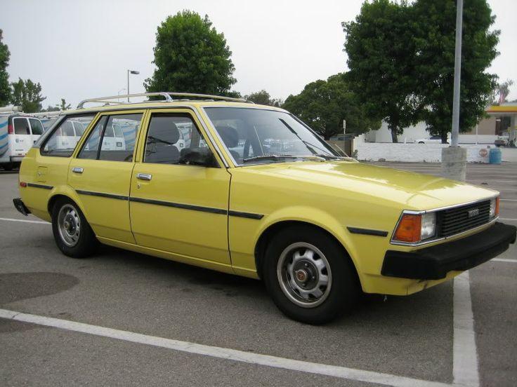 1982 Toyota Banana Yellow Corolla Station Wagon 5speed