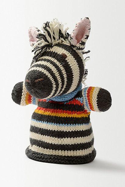 Zebra Hand Puppet #anthropologie