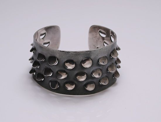 Cuff designed by Grete Prytz Kittelsen for Tostrup Norway c.1960 Heavy Sterling Silver
