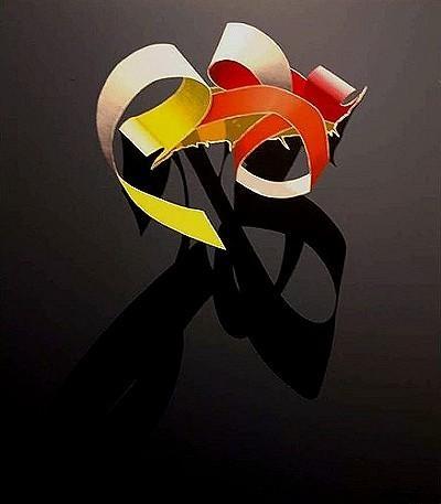 "Burhan Dogancay ""Ribbon series"""