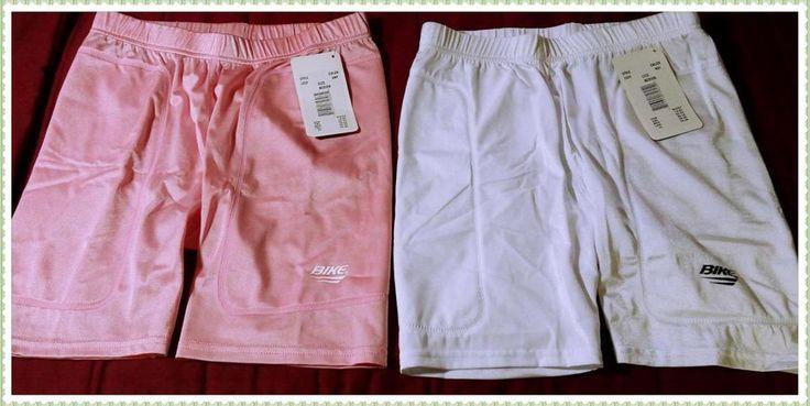 NWT 2 Pack of Bike Brand Shorts- Pink & White Size Med- Womens Clothing-Shorts #Bike #cyclingshorts